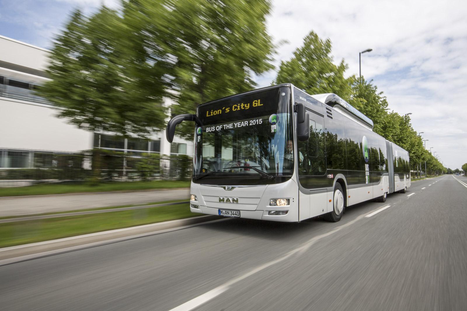 """Autobus miejski MAN Lion's City GL CNG otrzymał tytuł """"Bus of the Year 2015"""""""
