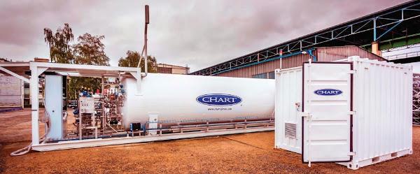 Holandia stacja LNG Chart Ferox skroplony gaz ziemny