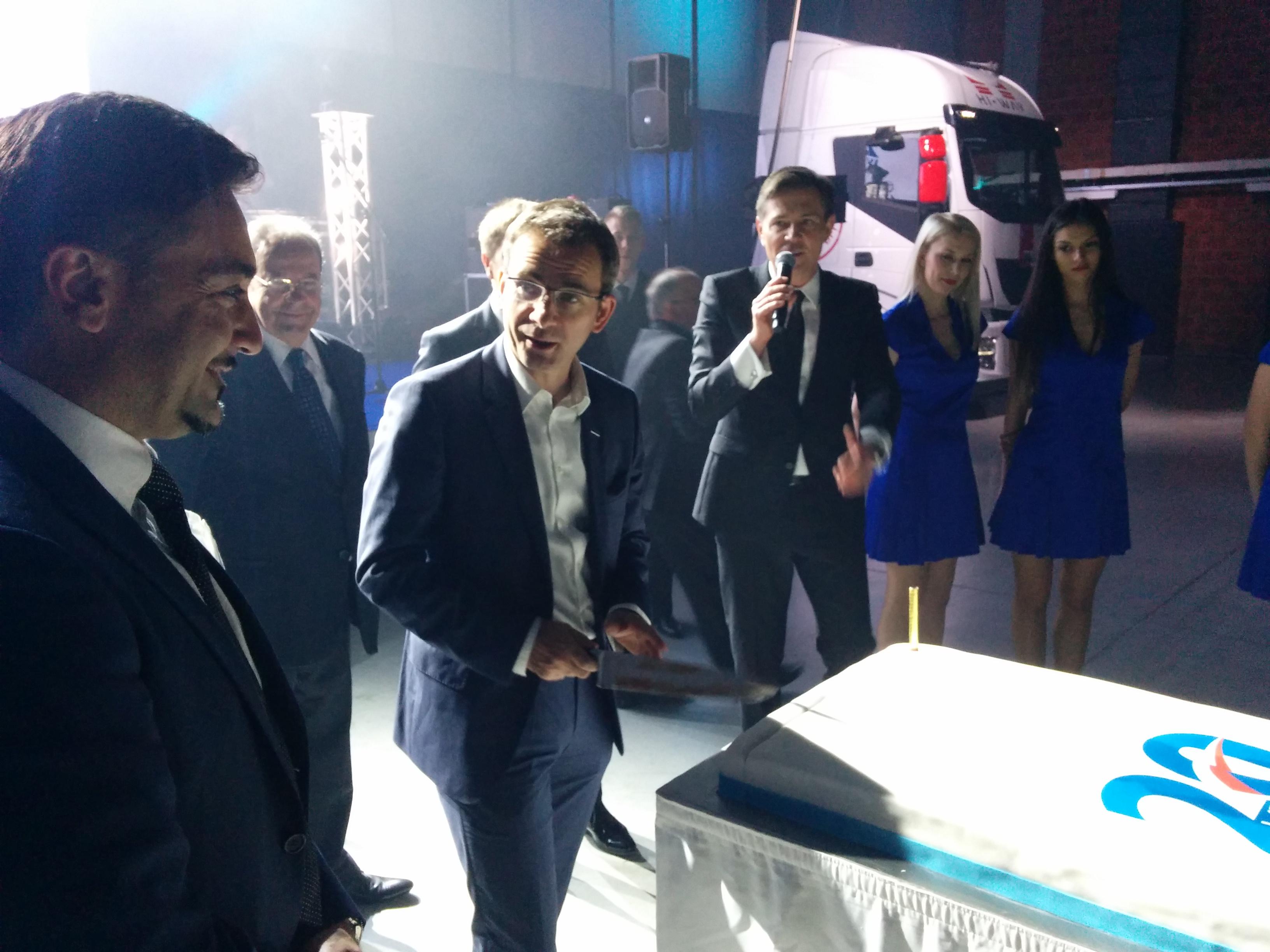 Wystąpienia i Prezentacje Pierre Lahutte - IVECO Brand President oraz Massimiliano Perri - Dyrektora Generalnego Iveco Poland