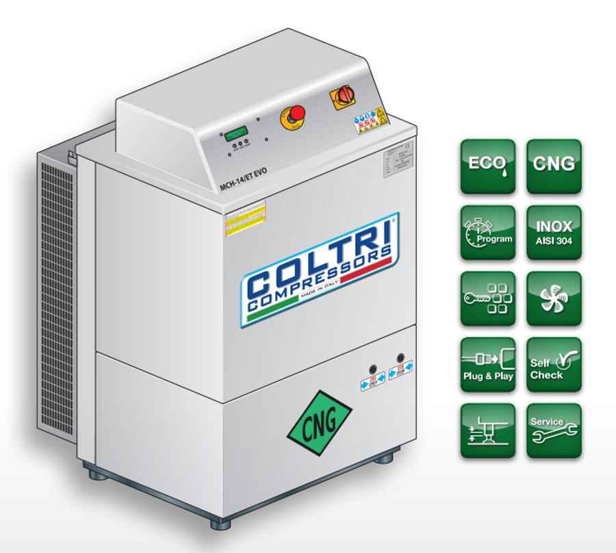 Kompresor CNG Coltri MCH-10-14/ET CNG – WIELKI TEST