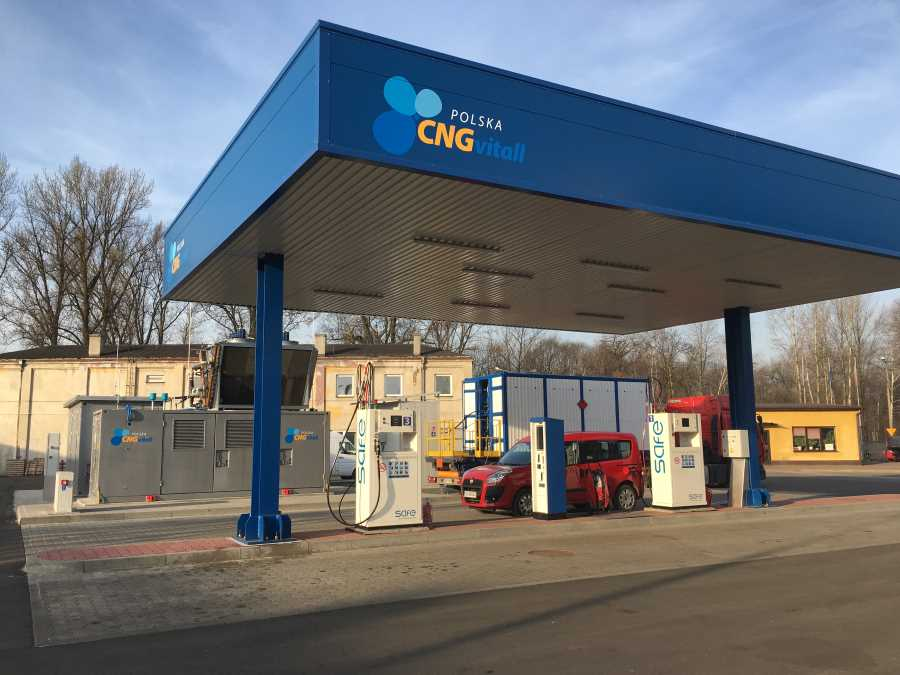 Stacja CNG w Sosnowcu – dobre zmiany – modernizacja zakończona.