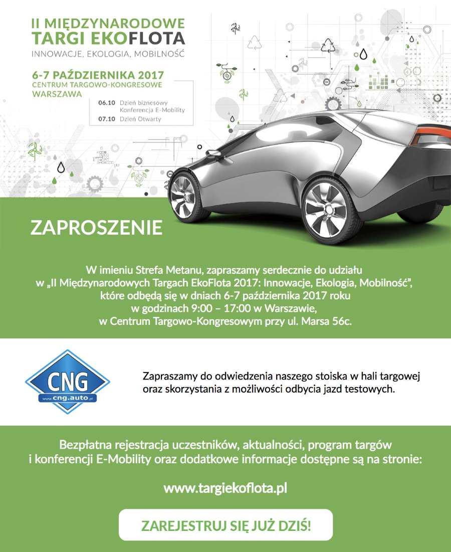 Zaproszenie do Strefy Metanu – Ekoflota 2017 6-7.10.2017 Warszawa
