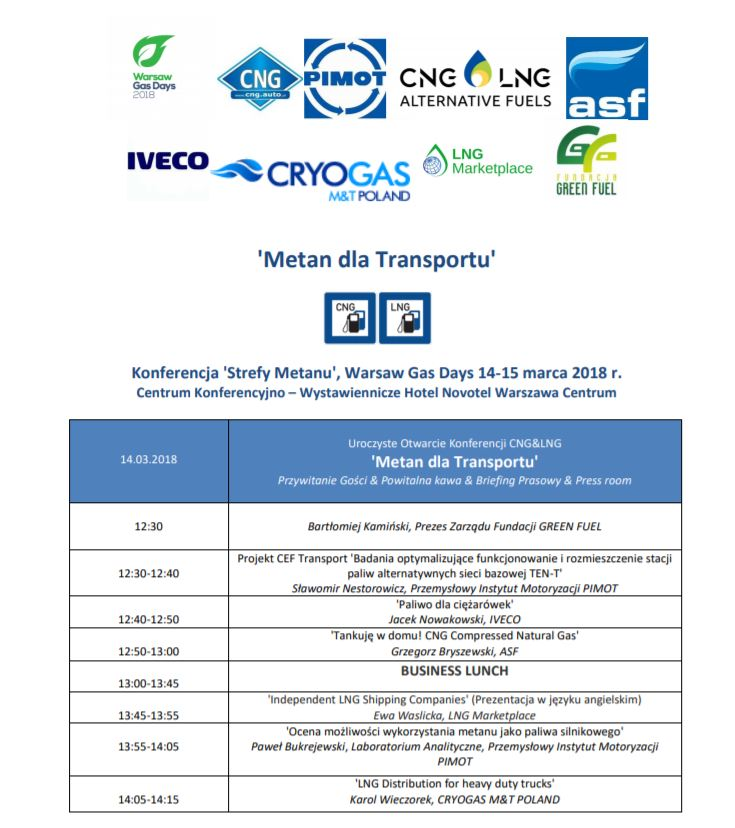 Metan dla Transportu – Konferencja – Rejestracja